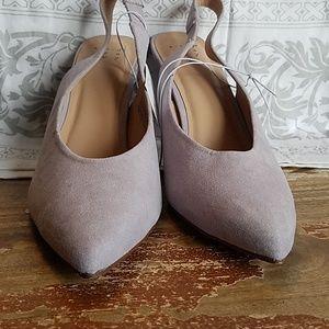 Micro suade heels. Size 8.